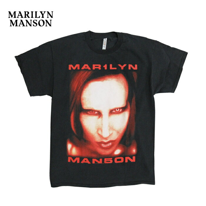 MARILYN MANSON【マリリン マンソン】オフィシャル ライセンス Tシャツ【BIGGER THAN SATAN】【WASHED BLACK】半袖 Tシャツ ロックTシャツ ブラック あす楽対応