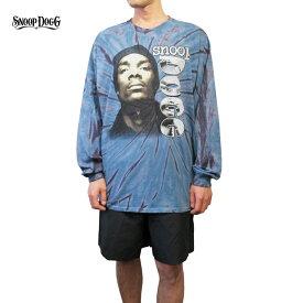 【レターパック対応】SNOOP DOGG(スヌープ・ドッグ)オーバーサイズ ロングスリーブ Tシャツ(Snoop Dogg Tie-Dye Long Sleeve Tee)(TIE-DYE BLUE)新品 長袖 ロンT オーバーサイズ ビックサイズ ビッグT タイダイ ヒップホップ RAPTEE HIPHOP あす楽対応
