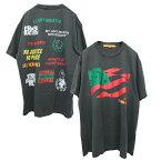 UnionLosAngeles(ユニオンロサンゼルス)プリントTシャツ(BlackLivesMatterT-SHIRT)(CHARCOALGRAY)新品半袖チャコールグレーあす楽対応レターパック対応