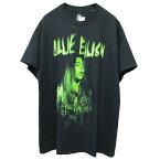 BILLIEEILISH(ビリー・アイリッシュ)オフィシャルプリントTシャツ(BillieEilishT-Shirt)(BLACK)半袖プリントS/ST-SHIRTSHORTSLEEVEブラック海外限定あす楽対応レターパック対応
