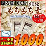 メール便送料無料『国内産100%もちもち麦(500g×2)』