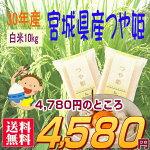 『宮城県産つや姫白米10K』【RCP】