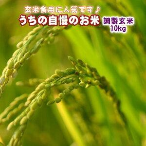 お米 10kg 送料無料 国内産 『うちの自慢のおこめ(調製玄米10kg)』【RCP】