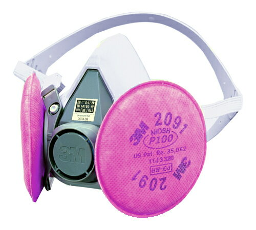 3M/スリーエム 防塵マスク 取替え式 6000/2091-RL3 粉塵 作業用 医療用 防じんマスク
