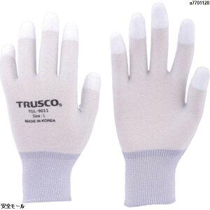 TRUSCO カーボン・ナイロンインナー手袋PU指先コート S TGL9011S 1双