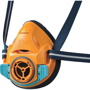 シゲマツ/重松 防毒マスク・防じんマスク TW01SC オレンジ L TW01SCORL 1個 ガスマスク
