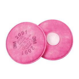 防塵マスク 交換用フィルター 3M/スリーエム 2091 6000 2091-RL3用 (2枚/1組) 防塵マスク 防じんマスク 粉塵 作業用 医療用