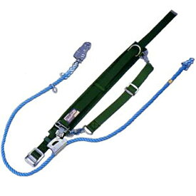 (送料無料) サンコー/タイタン 柱上用 安全帯 尻当てベルト付 E5D (赤芯入りシグナルロープ)