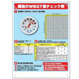 防雨型で屋外もOK 温湿度計付WBGT対応チェック表付標識 HO-515