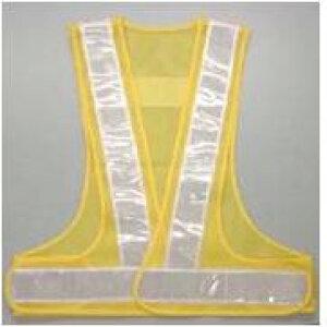 安全チョッキ(テープ幅60mm)安全ベスト 黄色メッシュ/白銀色テープ V60-YW 寒冷地対応反射テープ使用