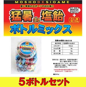 【業務用】塩飴 業務用 猛暑 熱中症対策 猛暑de塩飴 ボトルミックス【5ボトルセット】