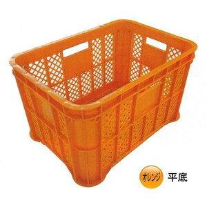 採集コンテナ2.0 平底 6個セット オレンジ  収穫用コンテナ 農業用品【個人宅・代引不可】
