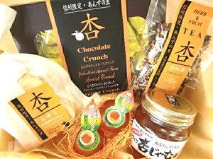 【杏ちゃんの人気ギフト】人気の杏ジャム・杏らすく・杏紅茶・あんずのチョコレートクランチ・ひとくち杏酒が入ったアプリコットづくし!【内祝い・引出物・引越し・挨拶などのギフトに