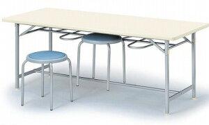 食堂用テーブル 6人用 シルバー塗装脚 W1800×D750×H700 【地域限定送料無料】/NS-YZ-1875C