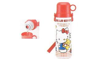 【サンリオ】【ハローキティ】ステンレスボトルコップ付き【ギンガムチェック】【キティ】【キティちゃん】【キャラクター】【ステンレス】【アウトドア】【コップ】【ボトル】【水筒