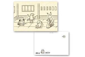 【送料無料】【日本製】【あらいぐまラスカル】ポストカード【鳥獣戯画ラスカルジム】【ラスカル】【プチラスカル】【ハガキ】【手紙】【文房具】【グッズ】【あらいぐま】【かわいい