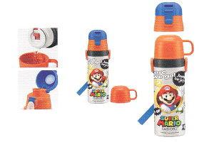 【スーパーマリオ】【MARIO】2WAYステンレスボトル【マリオ】【ゲーム】【任天堂】【子供】【アウトドア】【ボトル】【水筒】【すいとう】【保冷】【かわいい】