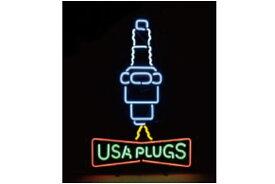【アメリカン雑貨】ネオンサイン【USA PLUGS】【ネオンチューブ】【ネオンライト】【電飾】【看板】【アメリカ雑貨】【ライト】【ブリキ看板】【インテリア】【店舗】【USA】【ガレージ】【カフェ】【かわいい】【おしゃれ】