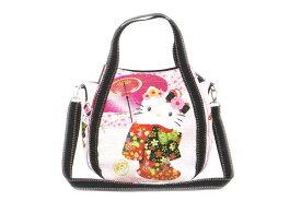 【ハローキティ】2WAYショルダーバッグ【舞桜】【和柄】【和風】【Kitty】【キティ】【キティちゃん】【バッグ】【ハンドバッグ】【鞄】【かばん】【サンリオ】【グッズ】【キャラ】【かわいい】
