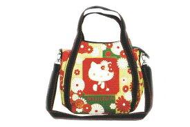 【ハローキティ】2WAYショルダーバッグ【葉文様】【和柄】【和風】【Kitty】【キティ】【キティちゃん】【バッグ】【ハンドバッグ】【鞄】【かばん】【サンリオ】【グッズ】【キャラ】【かわいい】