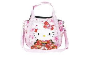 【ハローキティ】2WAYショルダーバッグ【座礼】【和柄】【和風】【Kitty】【キティ】【キティちゃん】【バッグ】【ハンドバッグ】【鞄】【かばん】【サンリオ】【グッズ】【キャラ】【かわいい】