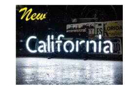 【アメリカン雑貨】ネオンサイン【CALIFORNIA】【カリフォルニア】【ネオン】【ネオンライト】【電飾】【看板】【かんばん】【アメリカ雑貨】【ライト】【ブリキ看板】【インテリア】【店舗】【USA】【ガレージ】【カフェ】【かわいい】【おしゃれ】