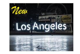 【アメリカン雑貨】ネオンサイン【LOS ANGELES】【ロサンゼルス】【ネオン】【ネオンライト】【電飾】【看板】【かんばん】【アメリカ雑貨】【ライト】【ブリキ看板】【インテリア】【店舗】【USA】【ガレージ】【カフェ】【かわいい】【おしゃれ】