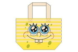 【スポンジボブ】マチ付きバッグ【フェイス】【SpongeBob】【ボブ】 【アニメ】【キャラクター】【かばん】【鞄】【小物入れ】【トート】【バッグ】【カバン】【マチ付き】【トートバッグ