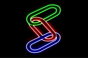 【ネオン】知恵の輪【リング】【鎖】【くさり】【ちえのわ】【アイコン】【イラスト】【ネオンライト】【電飾】【LED】【ライト】【サイン】【neon】【看板】【イルミネーション】【イン