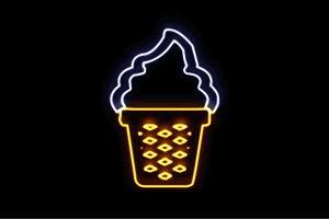 【ネオン】ソフトクリーム【4】【ICE CREAM】【アイスクリーム】【アイス】【イラスト】【ネオンライト】【電飾】【LED】【ライト】【サイン】【neon】【看板】【イルミネーション】【イン