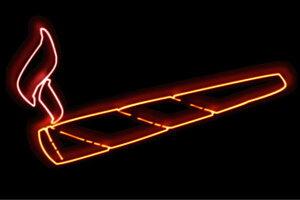 【ネオン】葉巻【はまき】【煙草】【たばこ】【アイコン】【イラスト】【ネオンライト】【電飾】【LED】【ライト】【サイン】【neon】【看板】【イルミネーション】【インテリア】【店舗