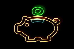 【ネオン】豚の貯金箱【豚】【ぶた】【貯金箱】【貯金】【バンク】【動物】【アニマル】【アイコン】【ネオンライト】【電飾】【LED】【ライト】【サイン】【neon】【看板】【イルミネー