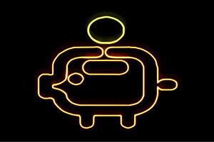 【ネオン】豚の貯金箱【2】【豚】【ぶた】【貯金箱】【貯金】【バンク】【動物】【アニマル】【アイコン】【ネオンライト】【電飾】【LED】【ライト】【サイン】【neon】【看板】【イル