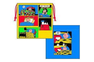 【スヌーピー】【SNOOPY】巾着【ベッド】【ウッドストック】【ピーナッツ】【すぬーぴー】【アニメ】【キャラクター】【巾着袋】【きんちゃく】【ランチ巾着】【お弁当】【袋】【小物入
