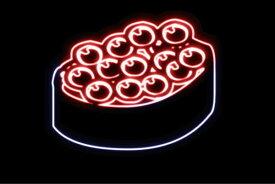【ネオン】いくら【イクラ】【お寿司】【寿司】【おすし】【すし】【鮨】【スシ】【軍艦巻き】【軍艦】【巻物】【ネオンライト】【電飾】【LED】【ライト】【サイン】【neon】【看板】【イルミネーション】【インテリア】【店舗】【ネオンサイン】【アメリカン雑貨】