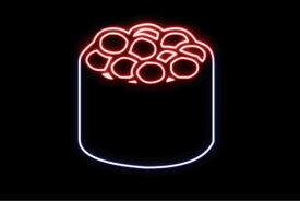 【ネオン】いくら【2】【イクラ】【お寿司】【寿司】【おすし】【すし】【鮨】【スシ】【軍艦巻き】【軍艦】【巻物】【ネオンライト】【電飾】【LED】【ライト】【サイン】【neon】【看板】【イルミネーション】【インテリア】【店舗】【ネオンサイン】