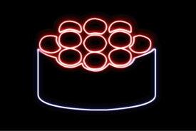 【ネオン】いくら【3】【イクラ】【お寿司】【寿司】【おすし】【すし】【鮨】【スシ】【軍艦巻き】【軍艦】【巻物】【ネオンライト】【電飾】【LED】【ライト】【サイン】【neon】【看板】【イルミネーション】【インテリア】【店舗】【ネオンサイン】