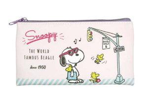 【送料無料】【スヌーピー】【SNOOPY】フラットポーチ【ショッピング】【ピーナッツ】【すぬーぴー】【ウッドストック】【筆箱】【小物入れ】【ポーチ】【ペンポーチ】【ケース】【ふで
