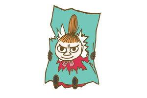 【日本製】【ムーミン】【Moomin】刺繍ブローチ【いたずらっ子】【リトルミイ】【ミイ】【アニメ】【絵本】【ブローチ】【ピンバッジ】【ボタン】【作品】【かっこいい】