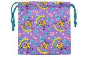 【送料無料】【スポンジボブ】巾着【星と虹】【SpongeBob】【ボブ】 【アニメ】【キャラクター】【巾着袋】【巾着】【ランチ巾着】【お弁当】【袋】【小物入れ】【子供】【キッズ】【学校