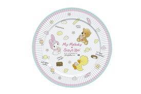 送料無料 サンリオキャラクター SUZY'S ZOO メラミンプレート S MMとSZ ホワイト マイメロディ マイメロちゃん まいめろ サンリオ スージーズー お皿 皿 さら おさら プレート ランチプレート 食器 グッズ かわいい