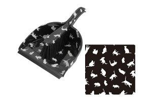 【黒猫シリーズ】ブルームとダストパン【S】【ブラック】【掃除】【掃除】【ホウキ】【チリトリ】【ブルーム】【ダストパン】【ネコ】【猫】【黒猫】【キャット】【ねこ】【ネコ雑貨】