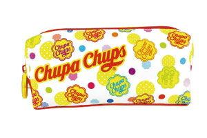 【送料無料】【チュッパチャプス】ダブルファスナーペンポーチ【ドット】 【Chupa Chups】【あめ】【あめちゃん】【お菓子】大人気!
