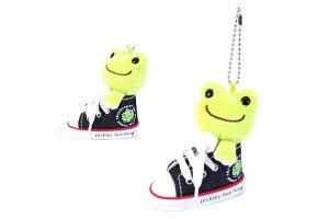 【かえるのピクルス】スニーカーMC【デニム】【ピクルス】【ぴくるす】【かえる】【カエル】【pickles the frog】【カエルのピクルス】【キッズ】【ぬいぐるみ】【マスコット】【キーホルダ