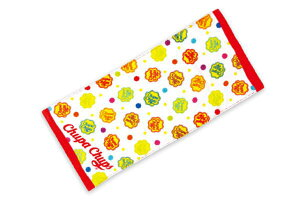 【チュッパチャプス】プリントフェイスタオル【レッド】【Chupa Chups】【あめ】【あめちゃん】 【お菓子】【タオル】【たおる】【生活雑貨】【雑貨】【グッズ】【かわいい】