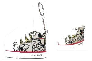 【PEANUTS】【スヌーピー】スニーカーキーリング【コミック】【ピーナッツ】【キーホルダー】【ストラップ】【ウッドストック】【鍵】【アニメ】【グッズ】【かわいい】