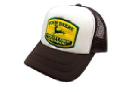 【アメリカン雑貨】メッシュキャップ【BR/WH】【JohnDeere】【ロゴ】【帽子】【ぼうし】【メッシュ】【キャップ】【ファッション】【雑貨】【グッズ】【かわいい】