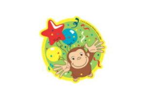 【おさるのジョージ】キャラクターステッカー【風船】【ジョージ】【ひとまねこざる】【Curious George】【絵本】【アニメ】【キャラクター】【ステッカー】【シール】【テープ】【文房具