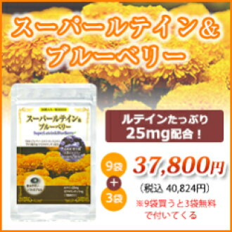 Super lutein & Blueberry 9 bags +3 bags (one bag per 30 / 30 minutes) (eyestrain herbal Aoi Hall pharmacy supplement health auxiliary food supplements health food gift gift gifts women mother grandmother) 10P03Sep16