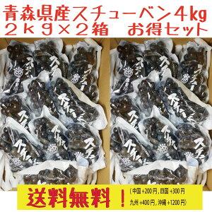 青森県産スチューベンぶどう ご家庭用 優品 4kg(2kg×2箱) 送料無料